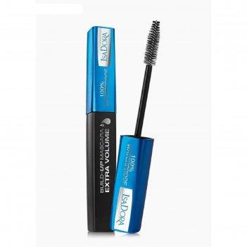 Тушь для ресниц isadora build-up mascara extra volume 100%, водостойкая, т