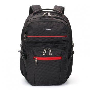 Рюкзак torber xplor с отделением для ноутбука 15, чёрный, полиэстер, 49 x