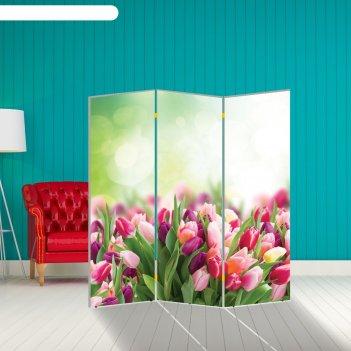 Ширма тюльпаны. декор 8 150 x 160 см
