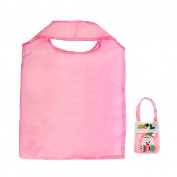 Сумка хозяйственная, складная, 1 отдел, цвет розовый