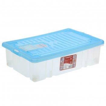 Ящик для хранения прямоугольный, 36 л darel-box, цвет микс