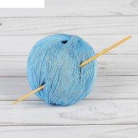 Крючок для вязания бамбуковый, d=3,0мм, 15см