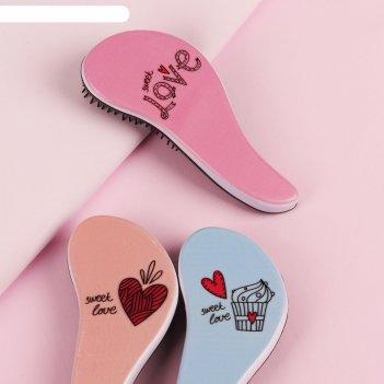 Расчёска массажная «любовь», цвет микс
