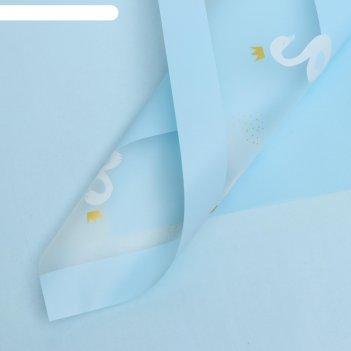 Плёнка 58см*58см 50 микрон голубая