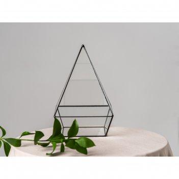 Флорариум пирамида с основанием (швы медь)