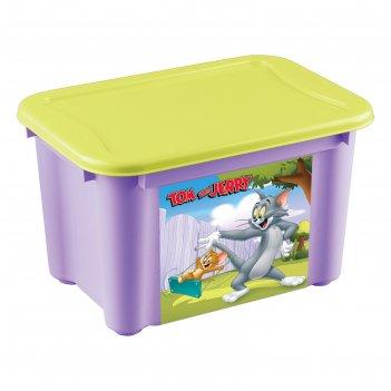 Ящик универсальный с аппликацией том и джерри. цвет: сиреневый 433213303
