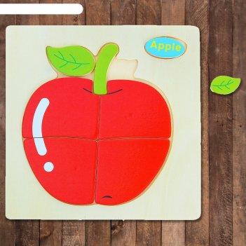 Пазл - малыш яблоко, 7 элементов