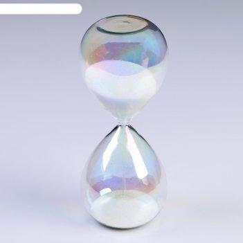 Часы песочные шанаду, сувенирные,  8х8х19 см, песок белый
