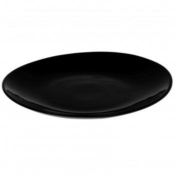 Блюдо 28см круглое  черное