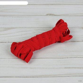 Резинка эластичная, 10 мм, 10 ± 1 м, цвет красный № 152