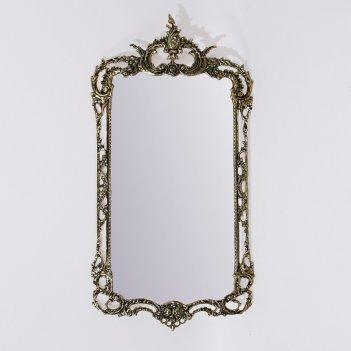 Зеркало в бронзовой оправе рэтта (bp-50113-d)