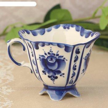 Чашка иринка 8*10*11,5 см, гжель