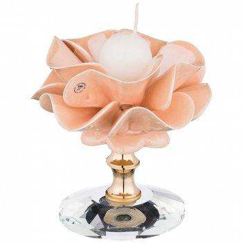 Подсвечник delicate flower диаметр=10 см. высота=10 см.