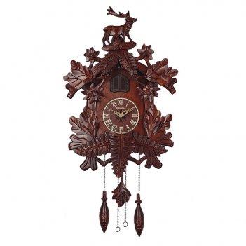 Настенные часы с кукушкой columbus олень cq-007