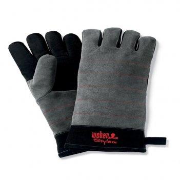 Перчатки кожаные для гриля weber для сада