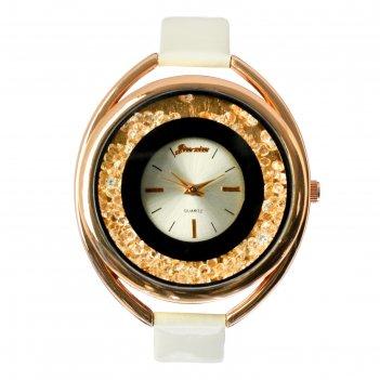 Часы наручные женские кравьери, циферблат d=3.8 см, белые