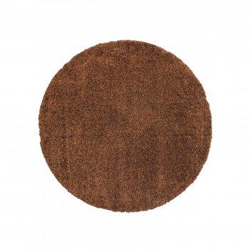 Ковёр круглый shaggy ultra s600, 150x150 см, цвет brown