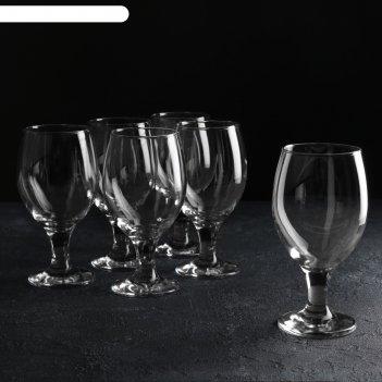 Набор бокалов для пива 6 шт «мисс», 400 мл, 6,9x16 см