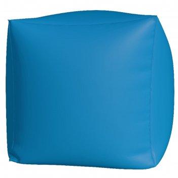 Пуфик куб макси, ткань нейлон, цвет голубой