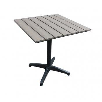 Алюминиевый стол joygarden milano 70 см светло - коричневый, садовая мебел