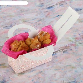 Коробка для сладостей птицы и розы, 12 х 5.5 х 5.5 см