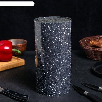 Подставка под ножи «чёрный гранит», с наполнителем