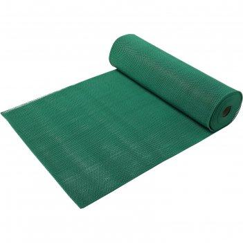 Коврик-дорожка пвх  zig-zag 5 мм 0,9*10 м, против скольжения, зеленый