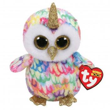 Мягккая игрушка сова enchanted с рогом разноцветная 25см 36446
