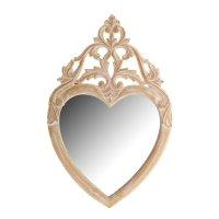 Зеркало сердце, резное