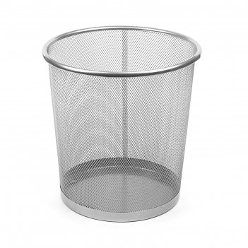 Корзина для бумаг, 15 литров, серая металлическая сетка