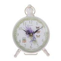 Часы настольные лаванда и бабочки