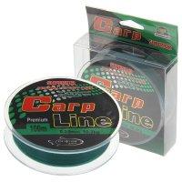 Леска капрон carp line темно-зеленая d=0,35 мм, 100 м, 10,3 кг