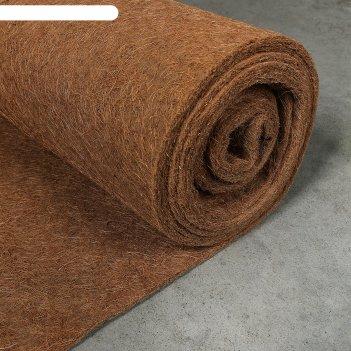 Кокосовое полотно для мульчирования, 1 x 5 м, «мульчаграм»