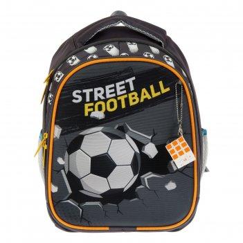 Рюкзак каркасный luris «джерри 4», 38 х 28 х 18 см, 3d-рисунок, «футбол»,