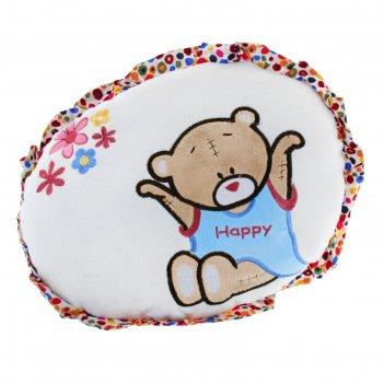 Мягкая игрушка-подушка круглая с мишкой