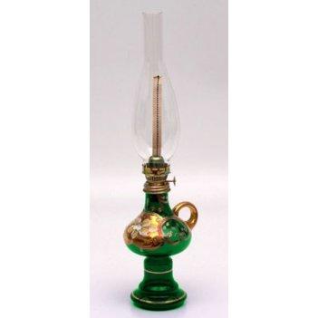 Лампа керосиновая лепка зеленая