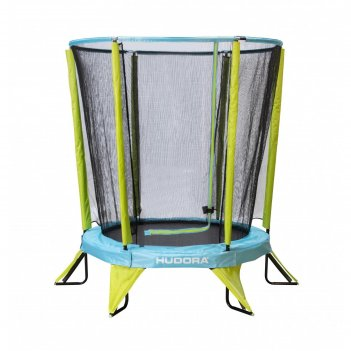 Батут с сеткой kindertrampolin safety 140, цвет салатово-голубой
