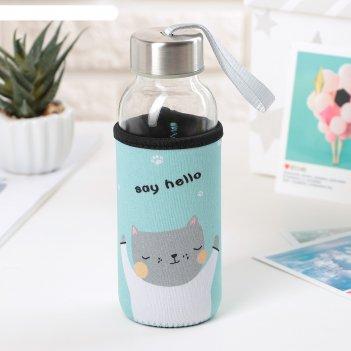Бутылка 300 мл милые животные, рисунок микс