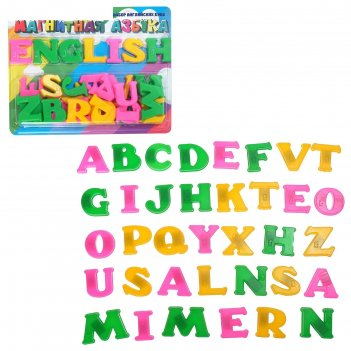 Магнитная английская азбука т8