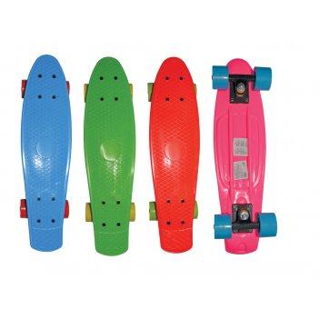 Скейт navigator пласт.,кол.пвх 57х42мм без света, втулки пвх, пласт.траки,