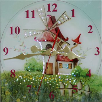 Картина сваровски - часы сказочный мир