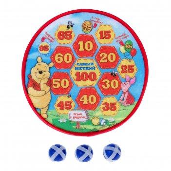 Disney дартс винни и его друзья, мячи-липучки 3 шт, диаметр 28 см № sl-001
