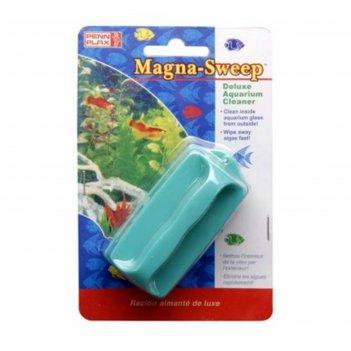Очиститель стекол penn-plax magna-sweep, магнитный, средний