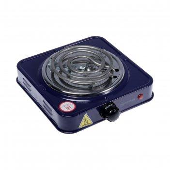 Плитка электрическая homestar hs-1103, 1000 вт, 1 конфорка, цвет сапфир