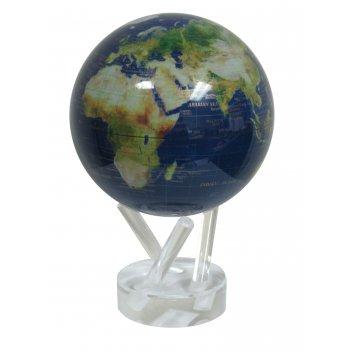 Глобус мобиле d12 см вид из космоса, цвет синий