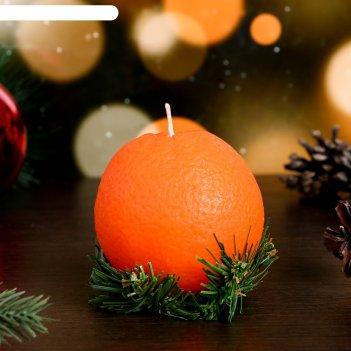 Декоративная свеча новогодний апельсин средний, 1шт