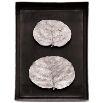 Панно michael aram ботаника 26х35см (серебрист.)