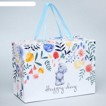 Пакет-коробка happy day, me to you, 20 x 28 x 13 см