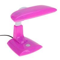 Лампа настольная g23, h=25 см, (v220/9 вт) с выкл.розовая