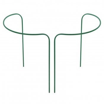 Кустодержатель, d = 80 см, h = 90 см, ножка d = 1 см, металл, набор 2 шт.,